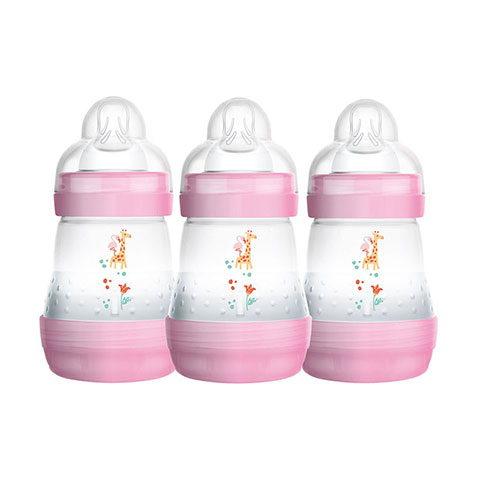 MAM Easy Start Anti - Colic 0m+ Bottles 3x160ml - Pink