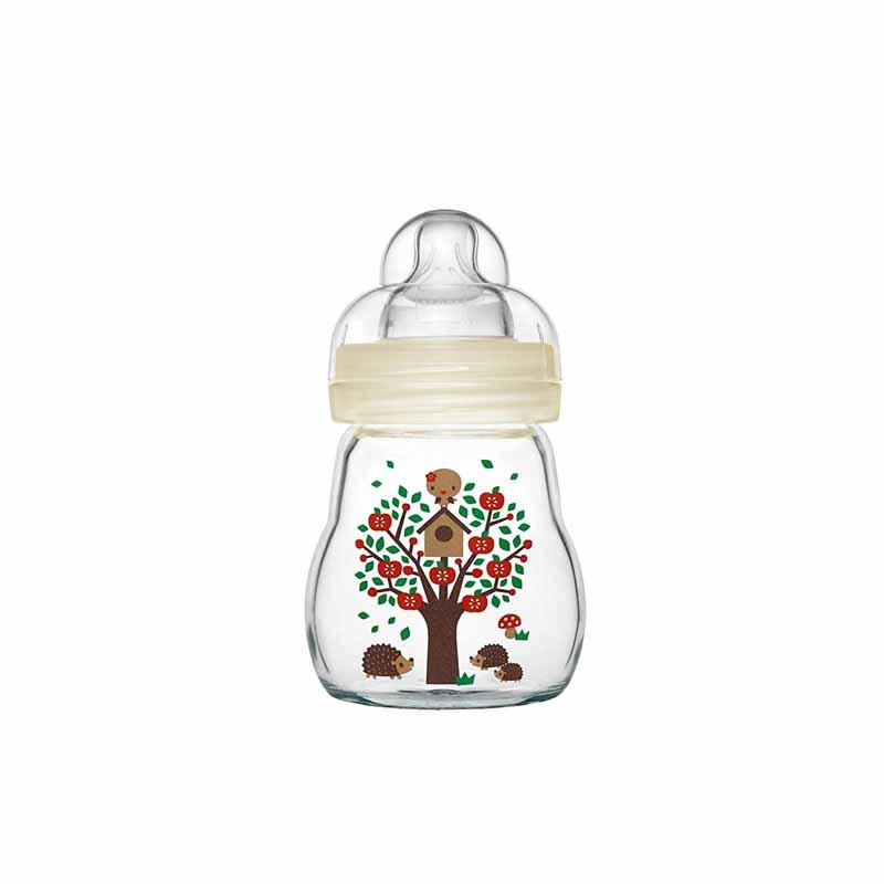 MAM Feel Good Baby Glass Bottle 0+ Months 170ml - White