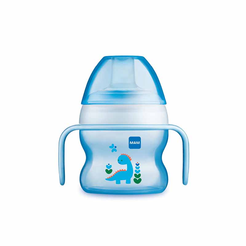 Mam Starter Cup 4+M 150ml With Handles & Soothers - Blue