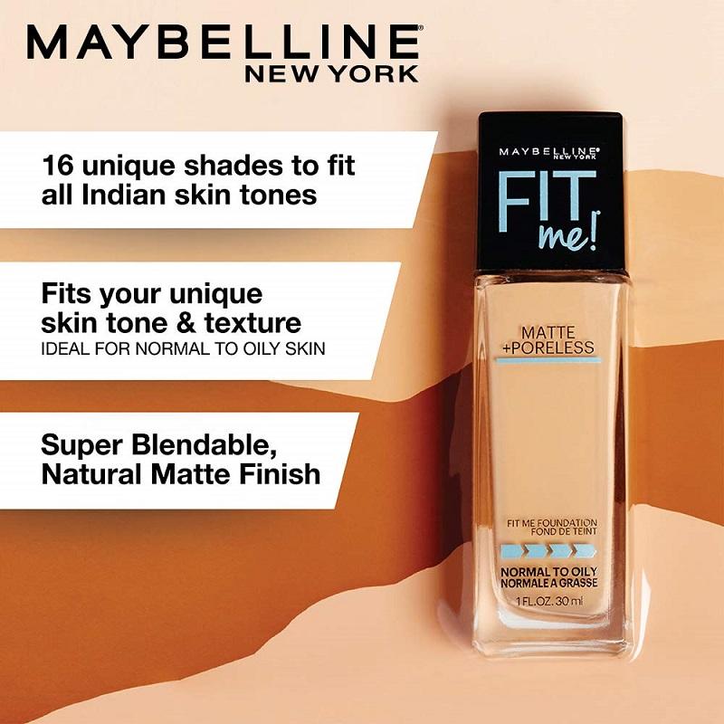 Maybelline Fit Me Matte + Poreless Foundation 30ml - 235 Pure Beige