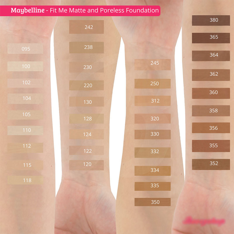 Maybelline Fit Me Matte+Poreless Foundation - 242 Light Honey
