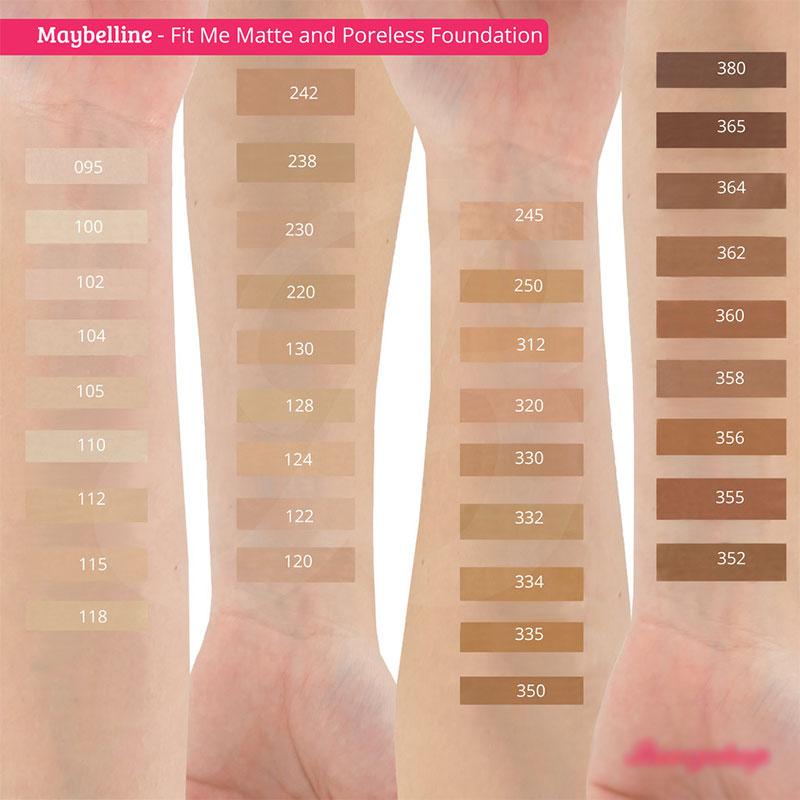 Maybelline Fit Me Matte+Poreless Foundation - 95 Fair Porcelain