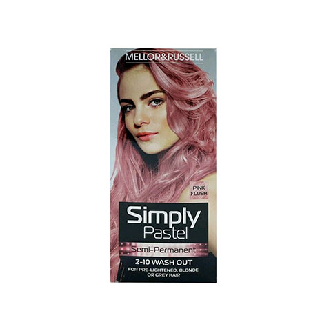 Mellor & Russell Simply Pastel Semi - Permanent Hair Colour - Pink Flush