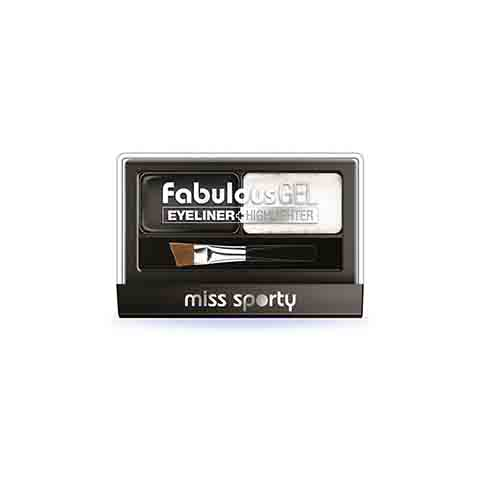 Miss Sporty Fabulous Gel Eyeliner + Highlighter - 001 Black & White