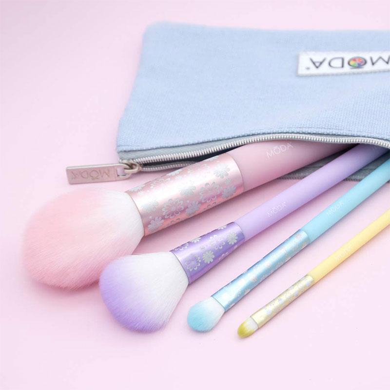 MODA Posh Pastel 5pc Complete Face Makeup Brush Kit (2092)