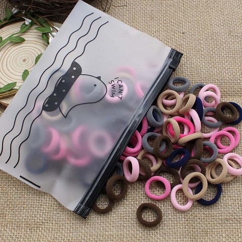 Multi Candy Color Hair Elastic Ring Bands - Small