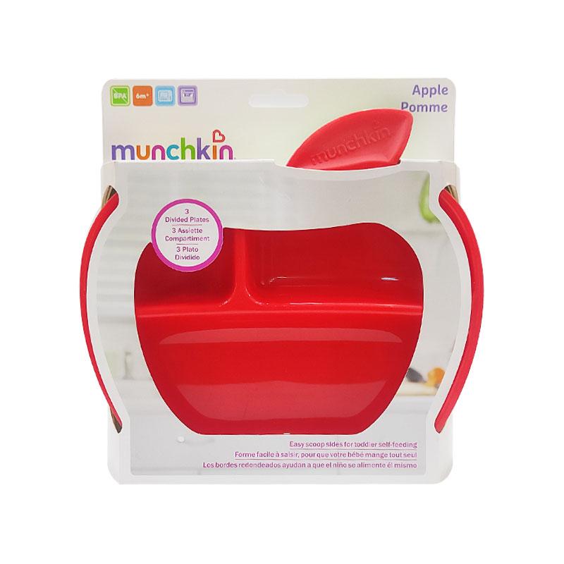 Munchkin Apple Pomme Plates 6m+ - 3Pk