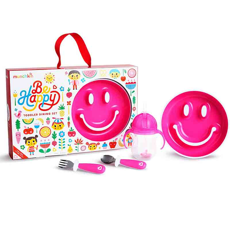 Munchkin By Happy Toddler Dining Set - Pink
