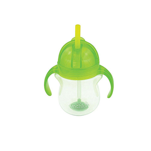 Munchkin Click Lock Tip & Sip Weighted Straw Cup 6m+ 207ml - Green