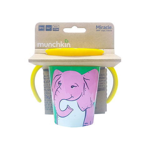 Munchkin Miracle 360° Wild Love Trainer Cup 6m+ 177ml - Elephant