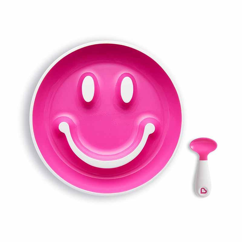 Munchkin Smile N Scoop Training Plate - Pink