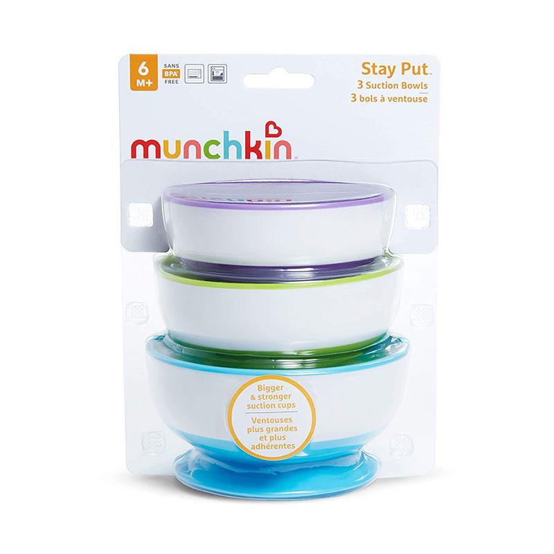 Munchkin Stay Put 3 Suction Bowls 6m+ - 3pk (7508)