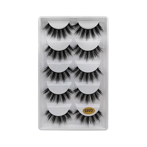 Natural Thick Imitation Mink 5 Pairs False Eyelashes - G505