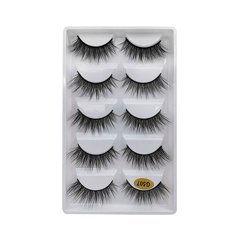 Natural Thick Imitation Mink 5 Pairs False Eyelashes - G507