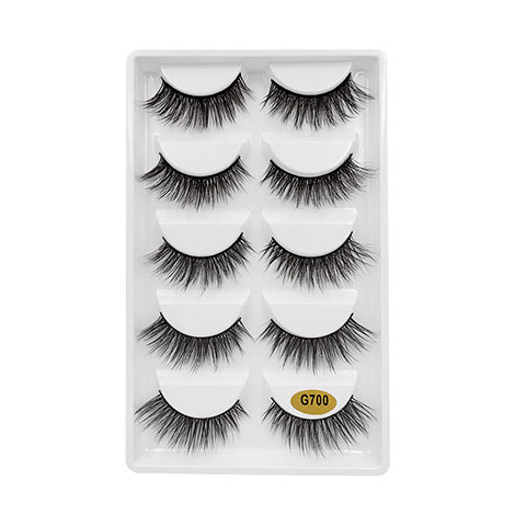 Natural Thick Imitation Mink 5 Pairs False Eyelashes - G700
