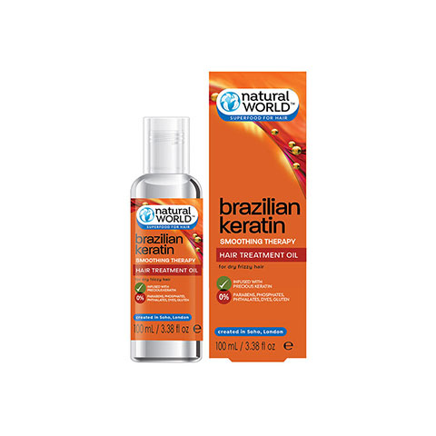 Natural World  Brazilian Keratin Hair Oil 100ml