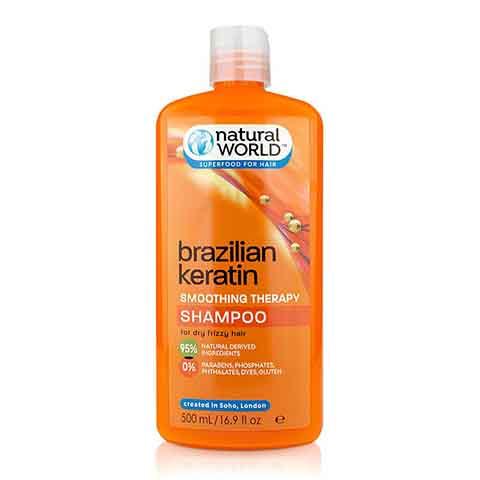 Natural World Brazilian Keratin Smoothing Therapy Shampoo 500ml