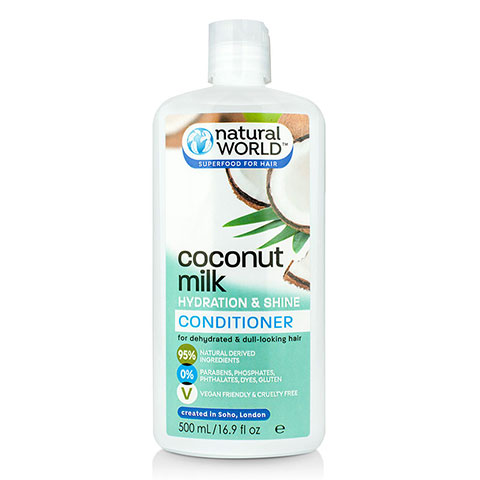 Natural World Coconut Milk Hydration & Shine Hair Conditioner 500ml