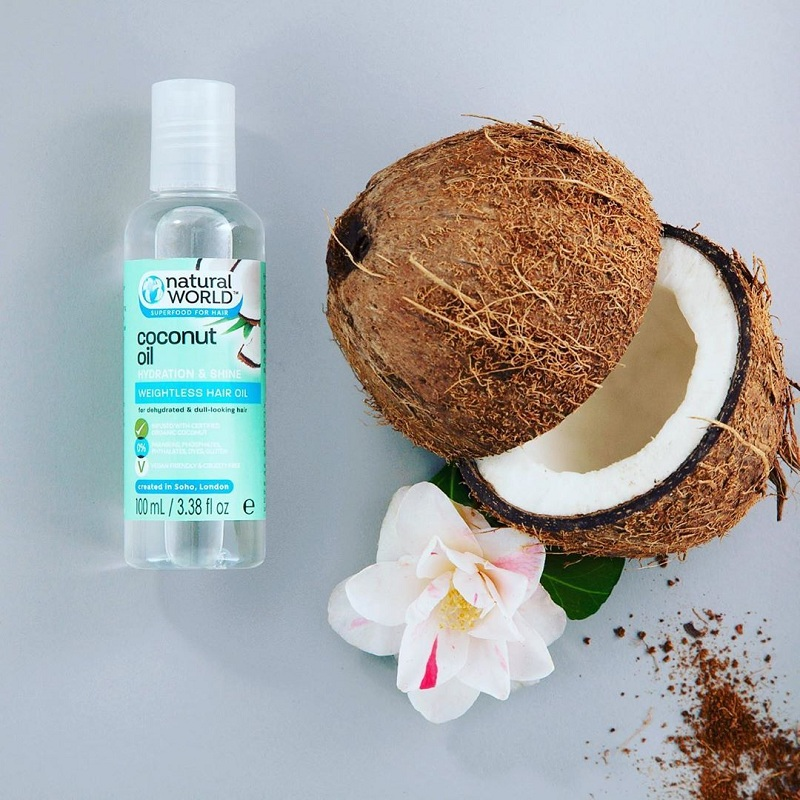 Natural World Coconut Oil Hydration and Shine Weightless Hair Oil 100ml