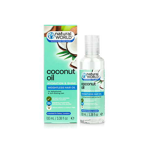 Natural World Coconut Water Hydration and Shine Weightless Hair Oil 100 ml