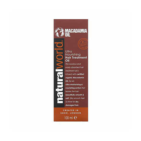 Natural World Macadamia Oil Ultra Nourishing  Hair Treatment Oil 100ml