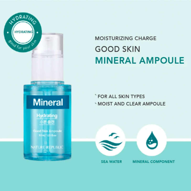 Nature Republic Mineral Good Skin Ampoule 30ml - Hydrating
