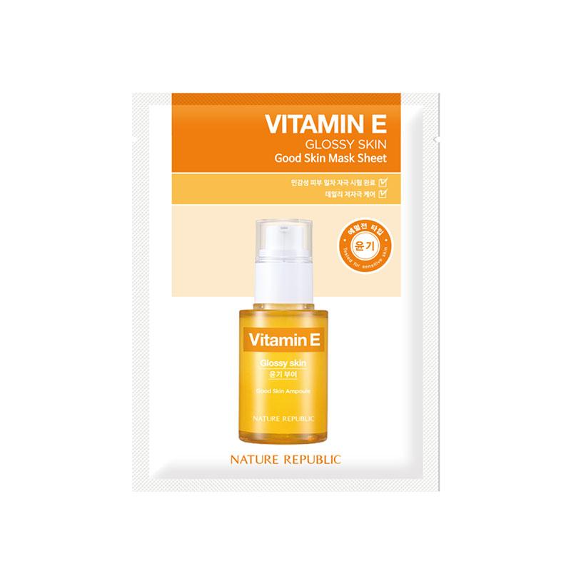 Nature Republic Vitamin E Glossy Skin Sheet Mask 24g