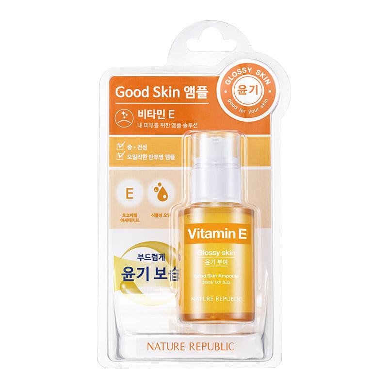 Nature Republic Vitamin E Good Skin Ampoule 30ml - Glossy skin
