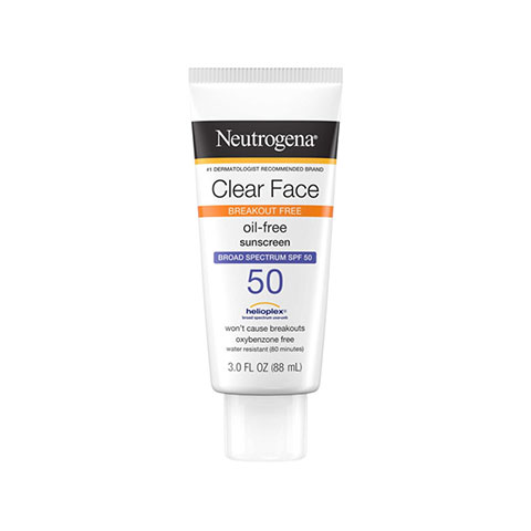 Neutrogena Clear Face Oil Free  Sunscreen 88ml - SPF 50