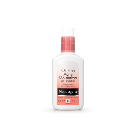 Neutrogena Oil Free Acne Moisturizer With Pink Grapefruit 118ml