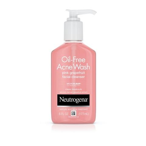 Neutrogena Oil Free Acne Wash Pink Grapefruit Facial Cleanser 177ml