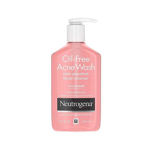 Neutrogena Oil Free Acne Wash Pink Grapefruit Facial Cleanser 269ml