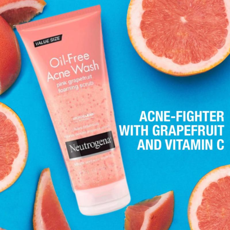 Neutrogena Oil Free Acne Wash Pink Grapefruit Foaming Scrub 198ml