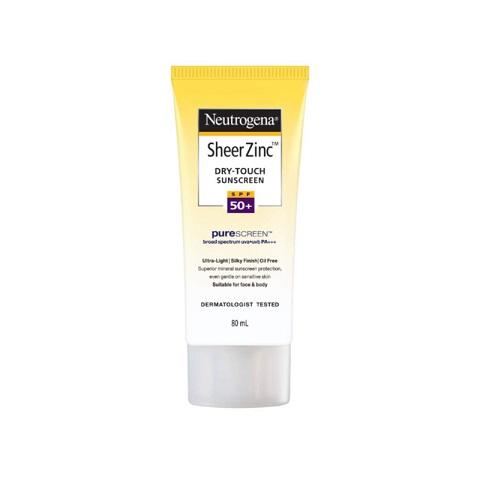 Neutrogena Sheer Zinc Dry Touch Sunscreen 80ml - SPF50+