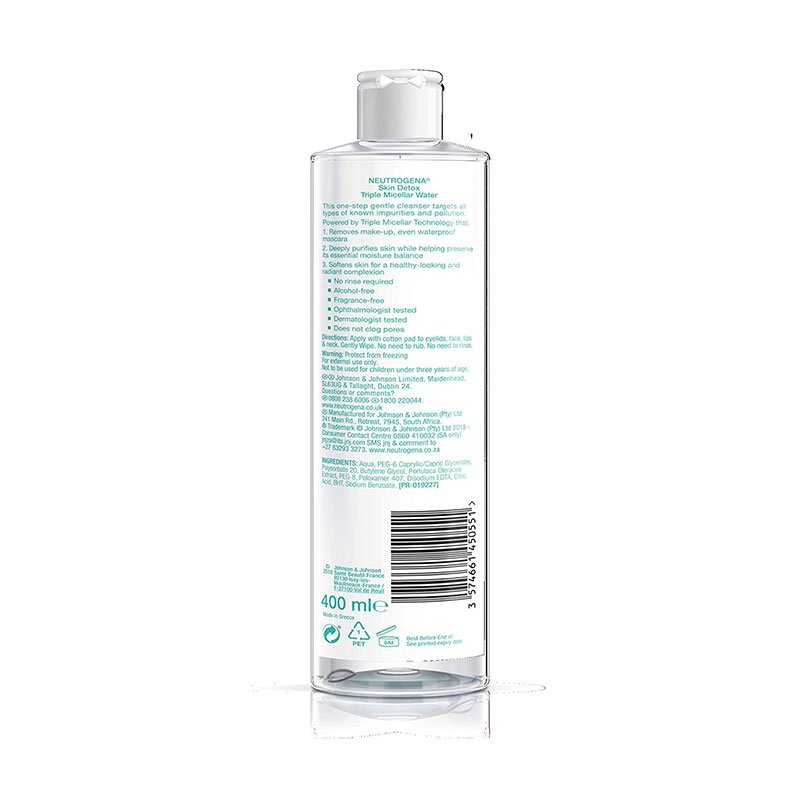 Neutrogena Skin Detox Triple Micellar Water 400ml
