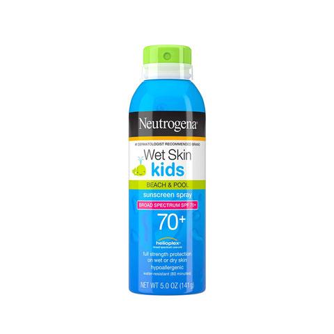 Neutrogena Wet Skin Kids Beach & Pool Sunscreen Spray 141g - SPF 70+