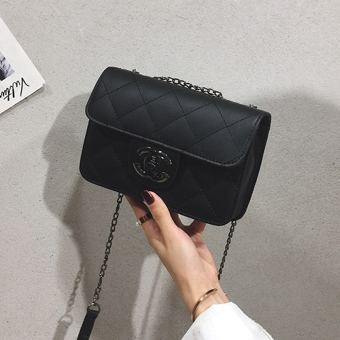 New Fashion Embroidery Thread Women's Shoulder Bag - Black