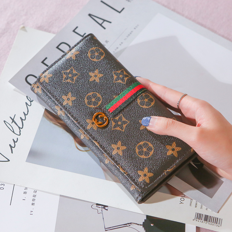 New Printing Long Folding Clutch All-Match wallet