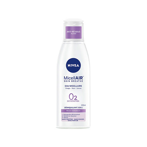 Nivea Micellair Skin Breathe Eau Micellair O2 Oxygenation Demaquillant 3 En 1 - 200ml (4963)