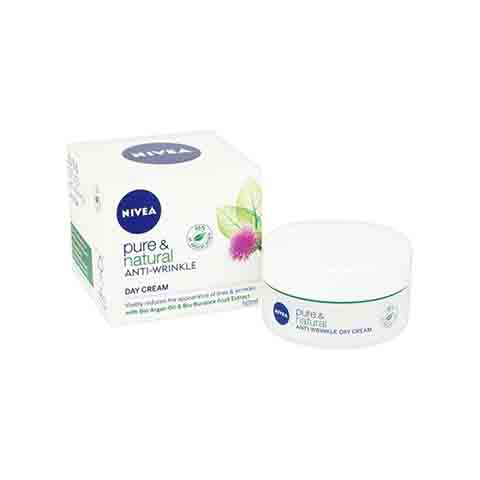 Nivea Pure & Natural Anti-Wrinkle Day Cream 50ml