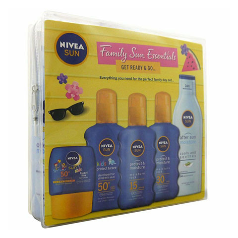 Nivea Sun Family Travel Essentials Get Ready & Go Gift Set (7700)
