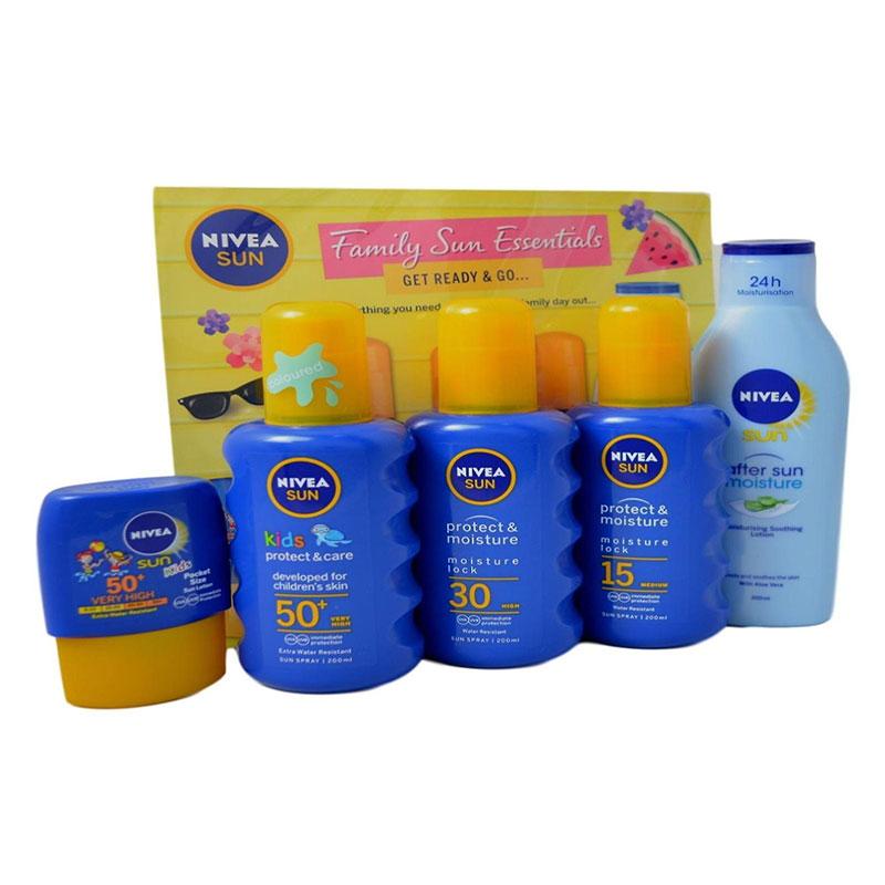 Nivea Sun Family Travel Essentials Get Ready & Go Gift Set (7700)