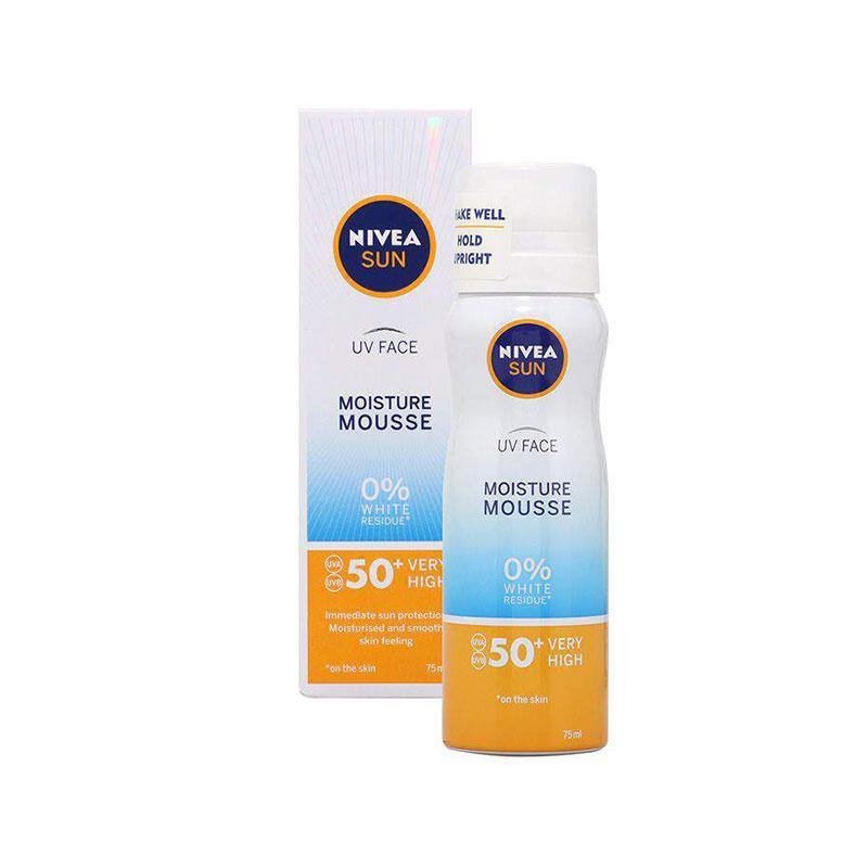 Nivea Sun UV Face Moisture Mousse 75ml - SPF 50+