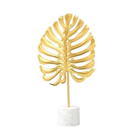 Nordic Light Luxury Golden Wrought Iron Turtle Leaf (20169)