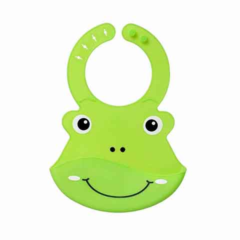 Nuby Roly Poly Animal Face Bib 6m+ - Green