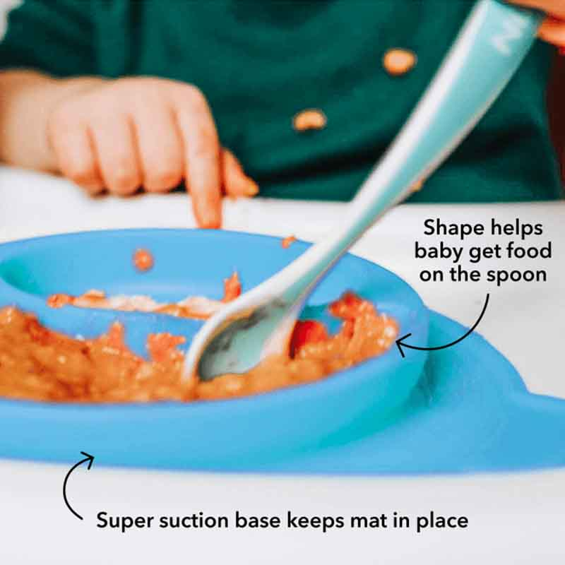 Nuby Sure Grip Monkey Feeding Mat - Blue