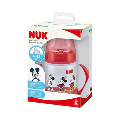 NUK Disney Mickey Mouse First Choice Learner Bottle 6-18m