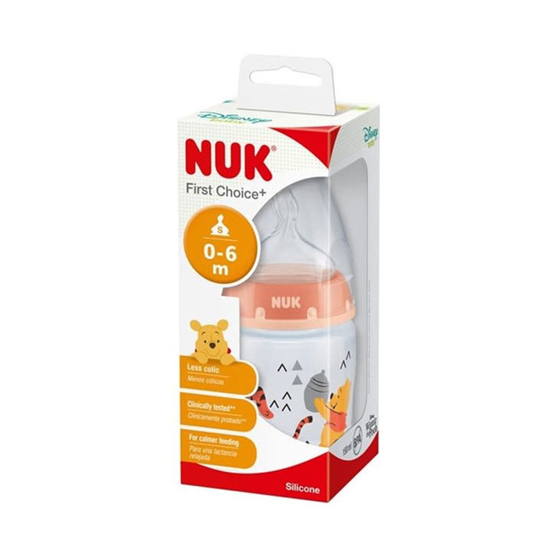 NUK Disney Winnie the Pooh First Choice+ Baby Bottle with Teat 0-6m 150ml - Tiger