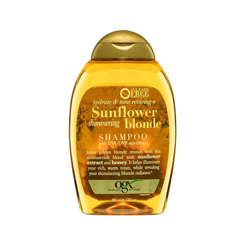OGX Hydrate & Color Reviving + Sunflower Shimmering Blonde Shampoo 385ml