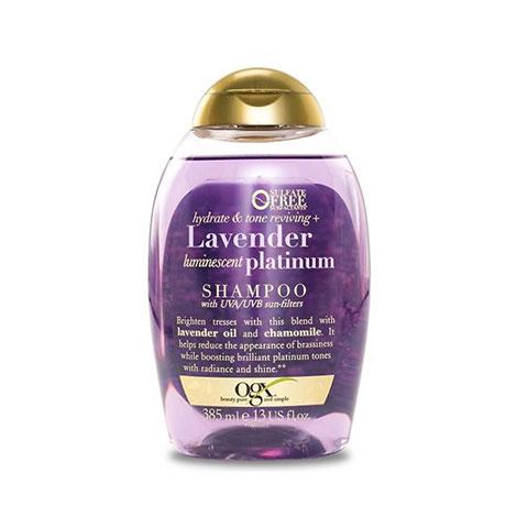 OGX Hydrate & Tone Reviving + Lavender Luminescent Platinum Shampoo 385ml
